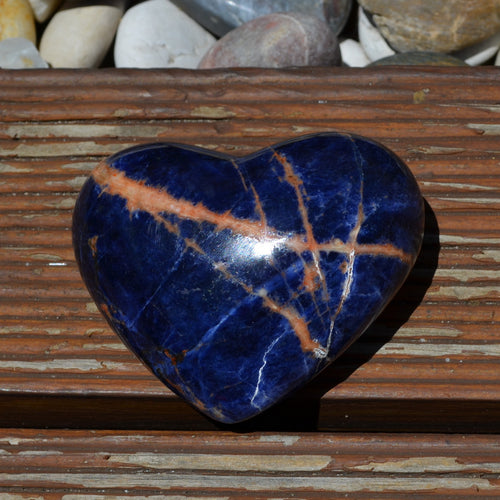 African Sodalite Heart (T63-8B)