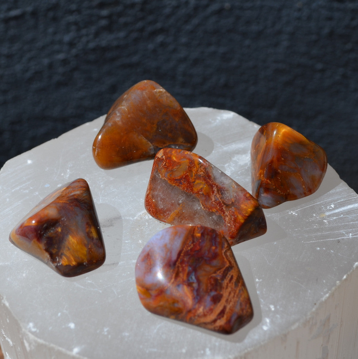 Red Gold Pietersite Tumbles Namibia Each (T31-29)