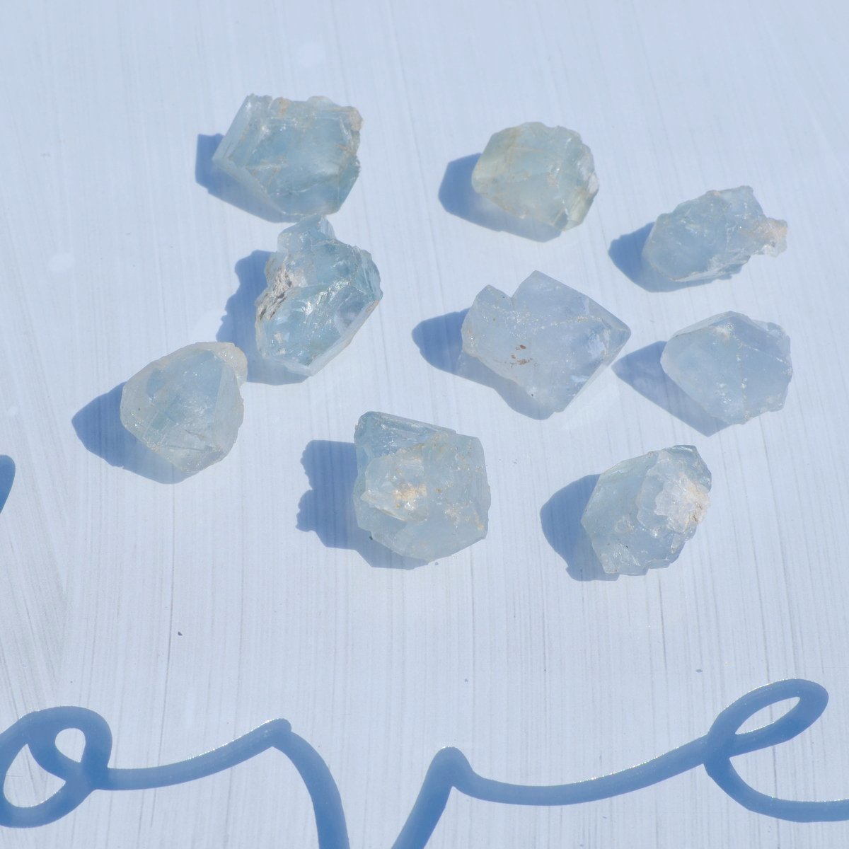 Blue Celestite Natural Crystals Each - Angels Insight Calm - Available now at Illiom Crystals - Afterpay Available