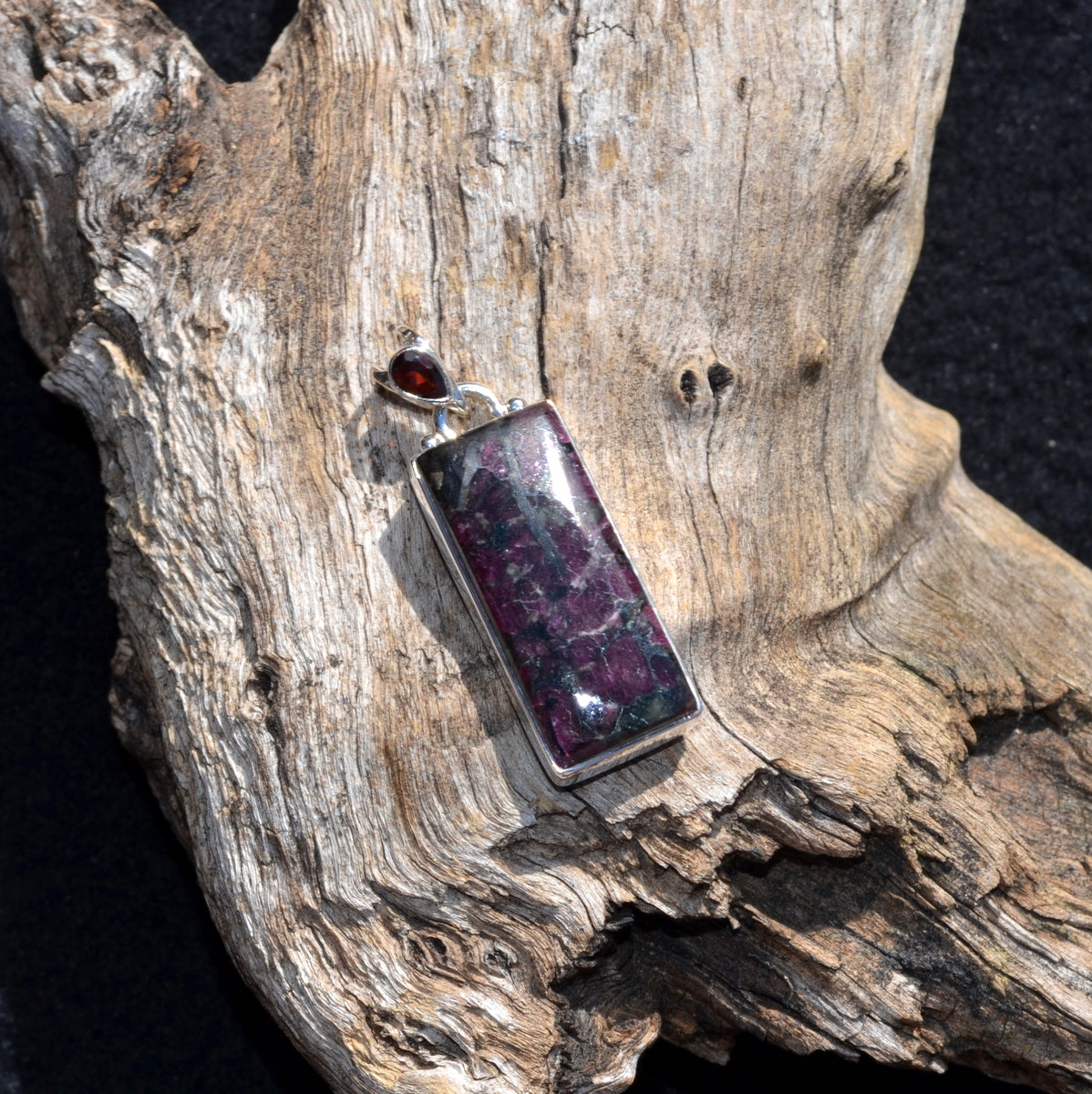 Eudialyte & Garnet 925 Silver Pendant - Decision Making Reconnection Self Love - Buy now at Illiom Crystals - Afterpay Available