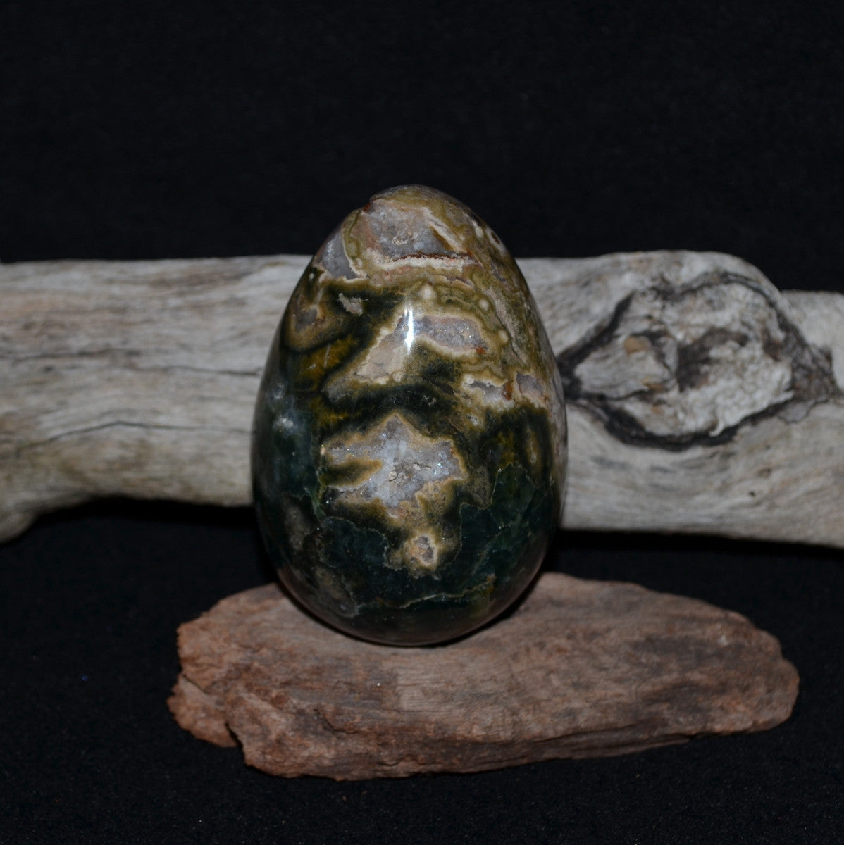 Ocean Jasper Large Egg Madagascar - Enthusiasm Joy Hope - Shop now at Illiom Crystals