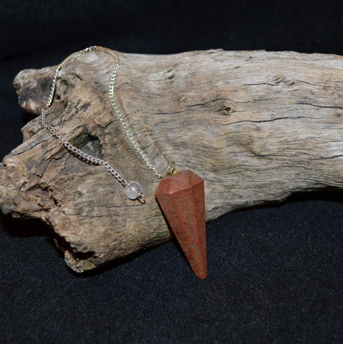Red Jasper Facetted Pendulum (KA10)