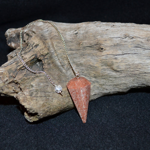 Orange Adventurine Facetted Pendulum (KA10)