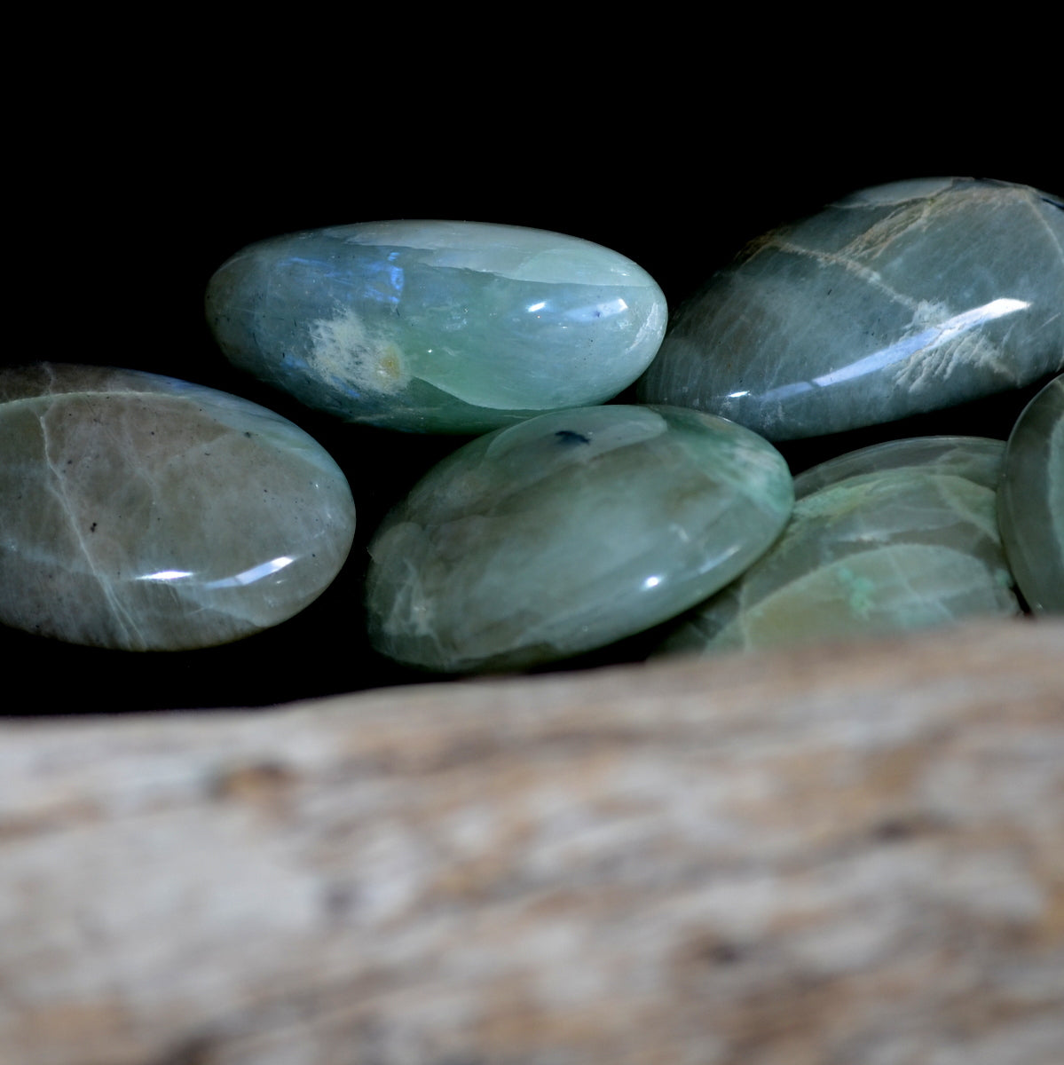 Garnierite Feldspar Palmstones - Tranquility Nurture Heart Healing - Shop Now at Illiom Crystals - Afterpay Available