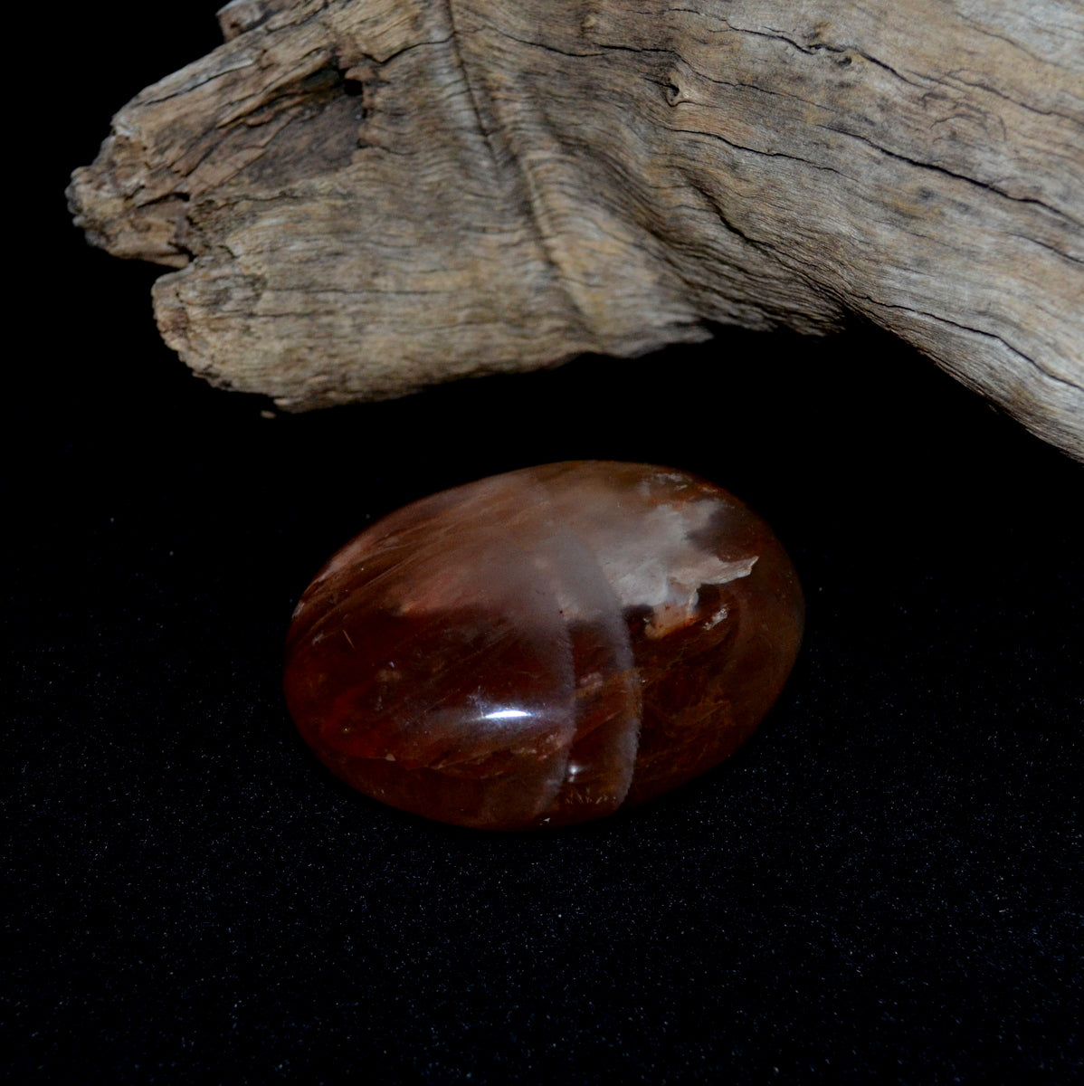 Hematoid Quartz Palmstone - Confidence Grounded Clarity - Shop now at Illiom Crystals - Afterpay Available