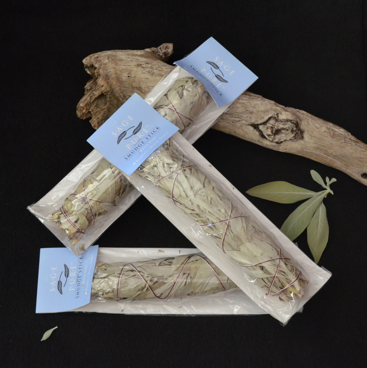 White Sage Smudge Stick Large - Cleansing Negativity - Shop Now at Illiom Crystals - Afterpay Available