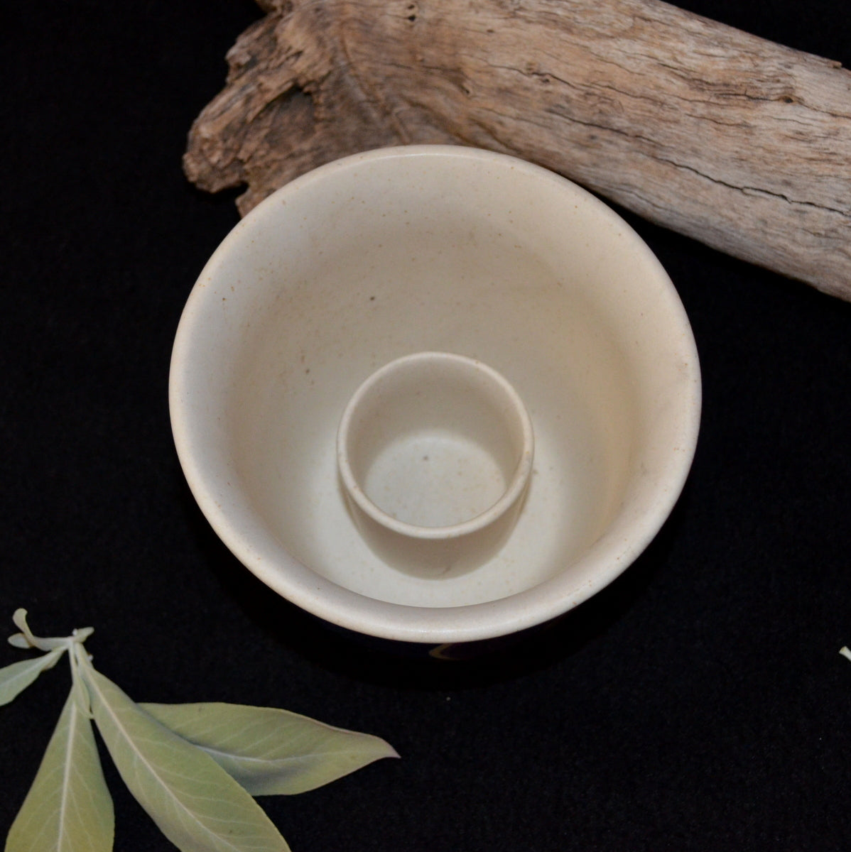 Ceramic Smudge Holder - White Sage Cleansing Negativity - Now at Illiom Crystals - Afterpay Available