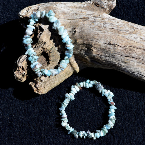 Larimar Beaded Elastic Stretch Bracelet Each (ES06-7AP1610)