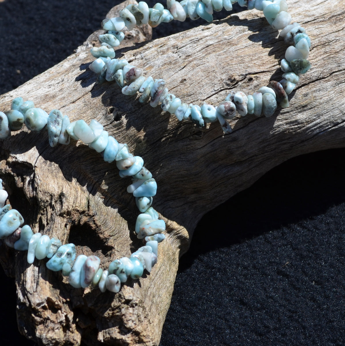 Larimar Elastic Stretch Bracelet - Nurturing Water Energy - Shop Now at Illiom Crystals - Now with Afterpay