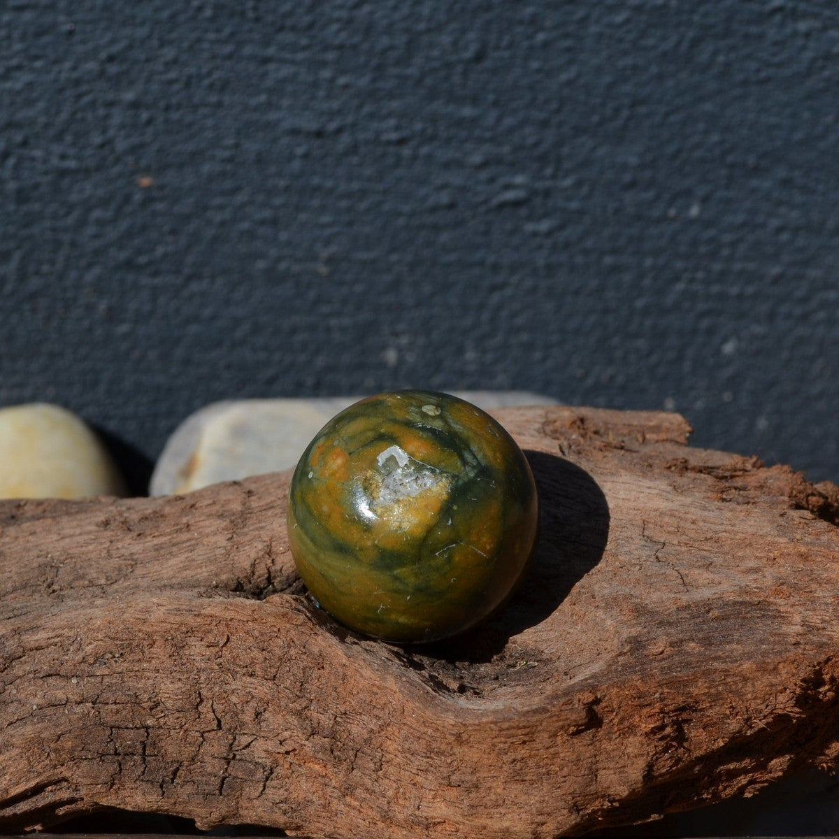 Rhyolite (Rainforest Jasper) Cute Gemstone Sphere 25mm - Illiom Crystals