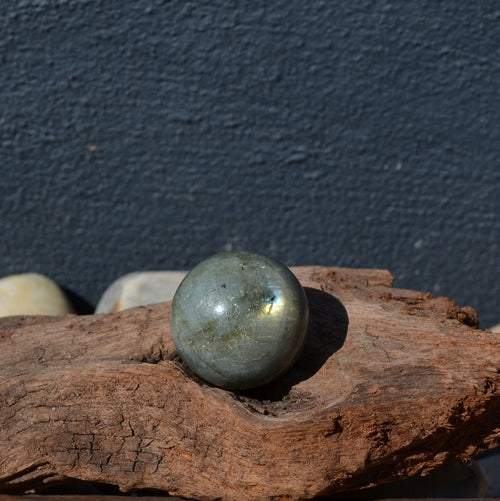 Labradorite Cute Gemstone Sphere (CU11-7974-10)