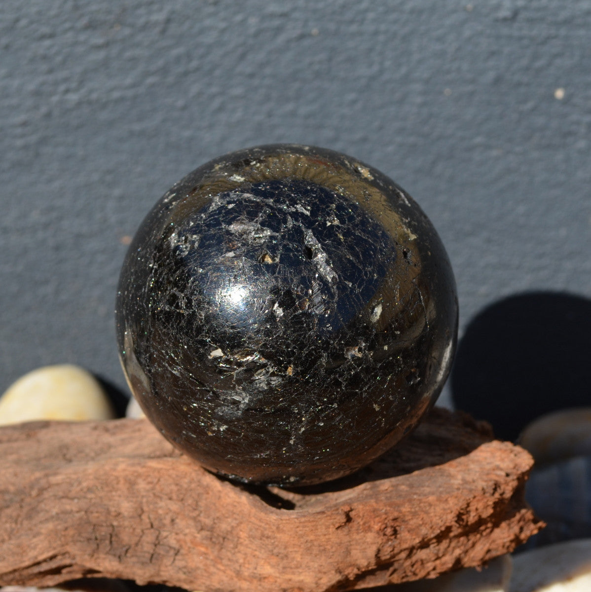 Black Tourmaline Sphere Brazil - The ultimate protection stone - Illiom Crystals