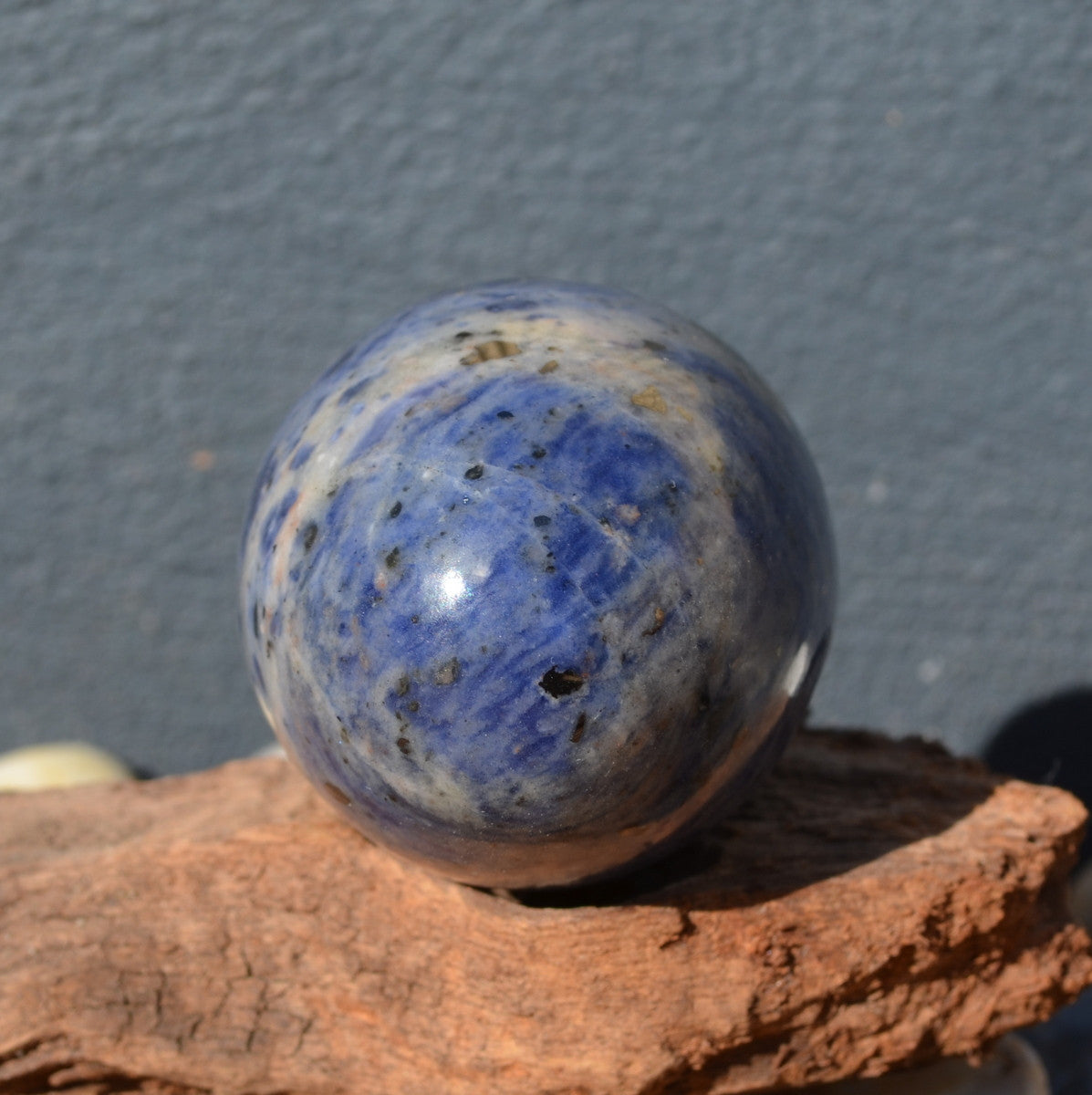 Sodalite with Hematite Large Gemstone Egg Namibia - Illiom Crystals