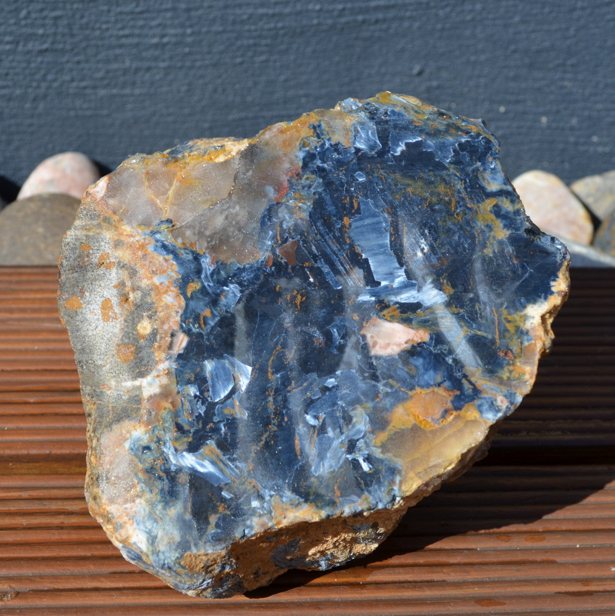 Blue Pietersite Rough Namibia Perfect for Slabbing and Cabbing
