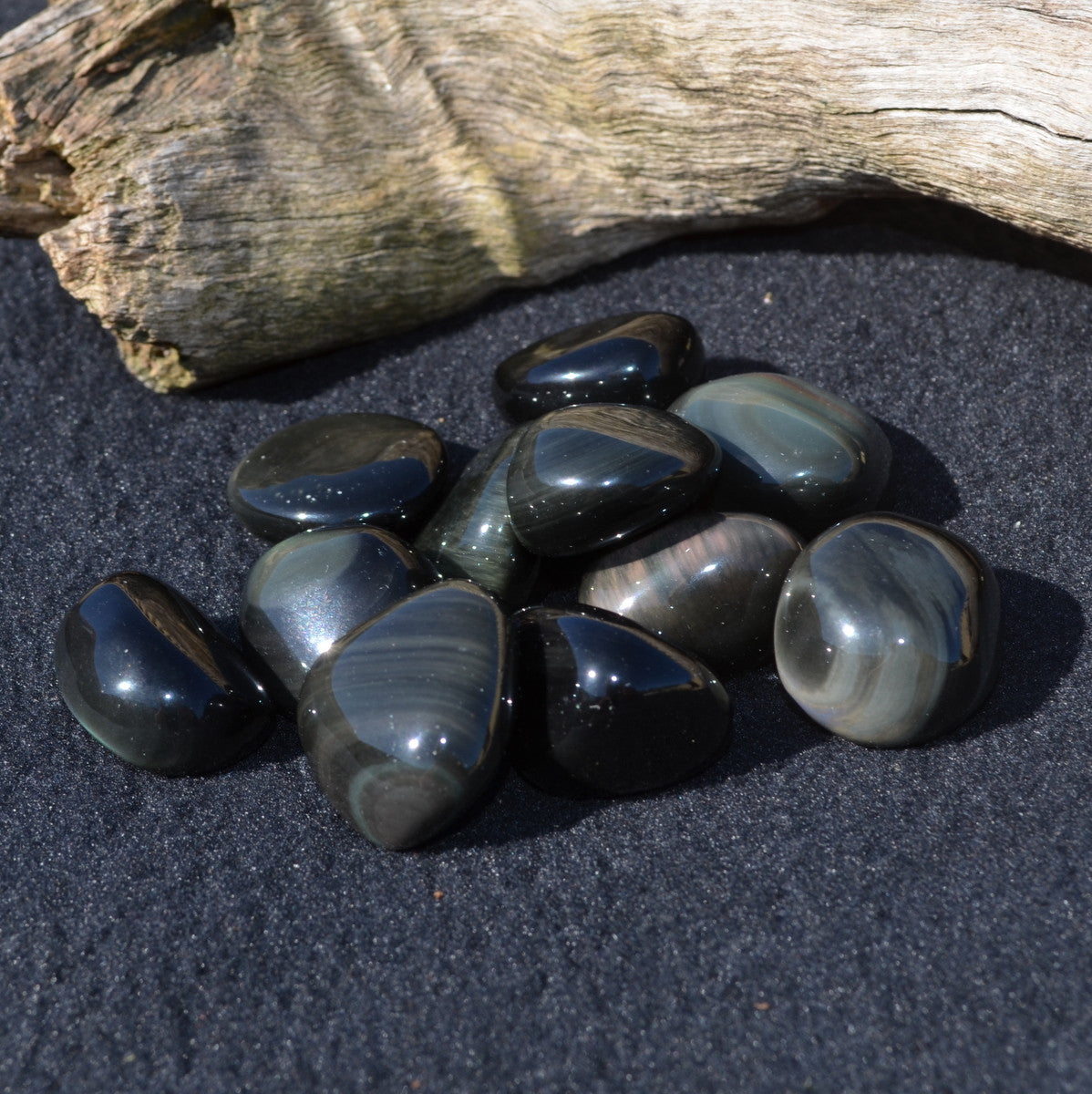 Rainbow Obsidian Large Tumble Stone Each - Joy Happiness Protection - Illiom Crystals