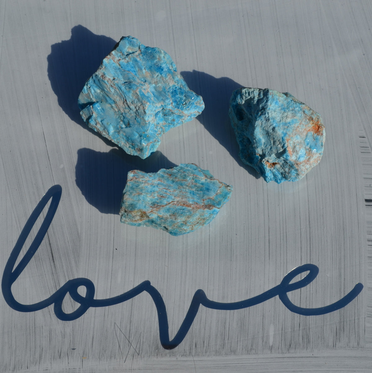 Blue Apatite Rough Pieces Each - Balancing Cleansing Intuition - Shop Now at Illiom Crystals - Now with Afterpay