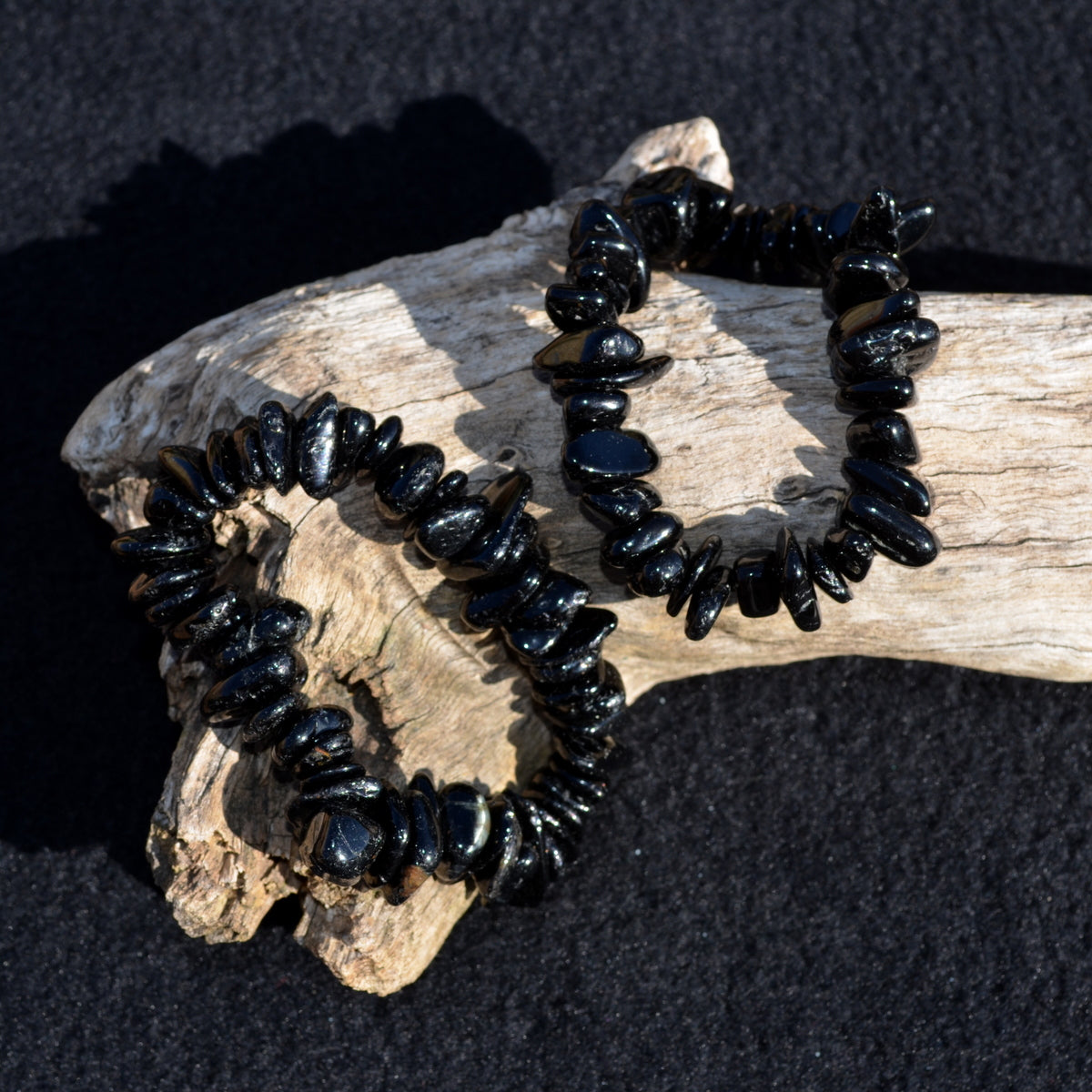 Black Tourmaline Stretch Bracelet - Protection Grounding - Shop Now at Illiom Crystals - Afterpay Available