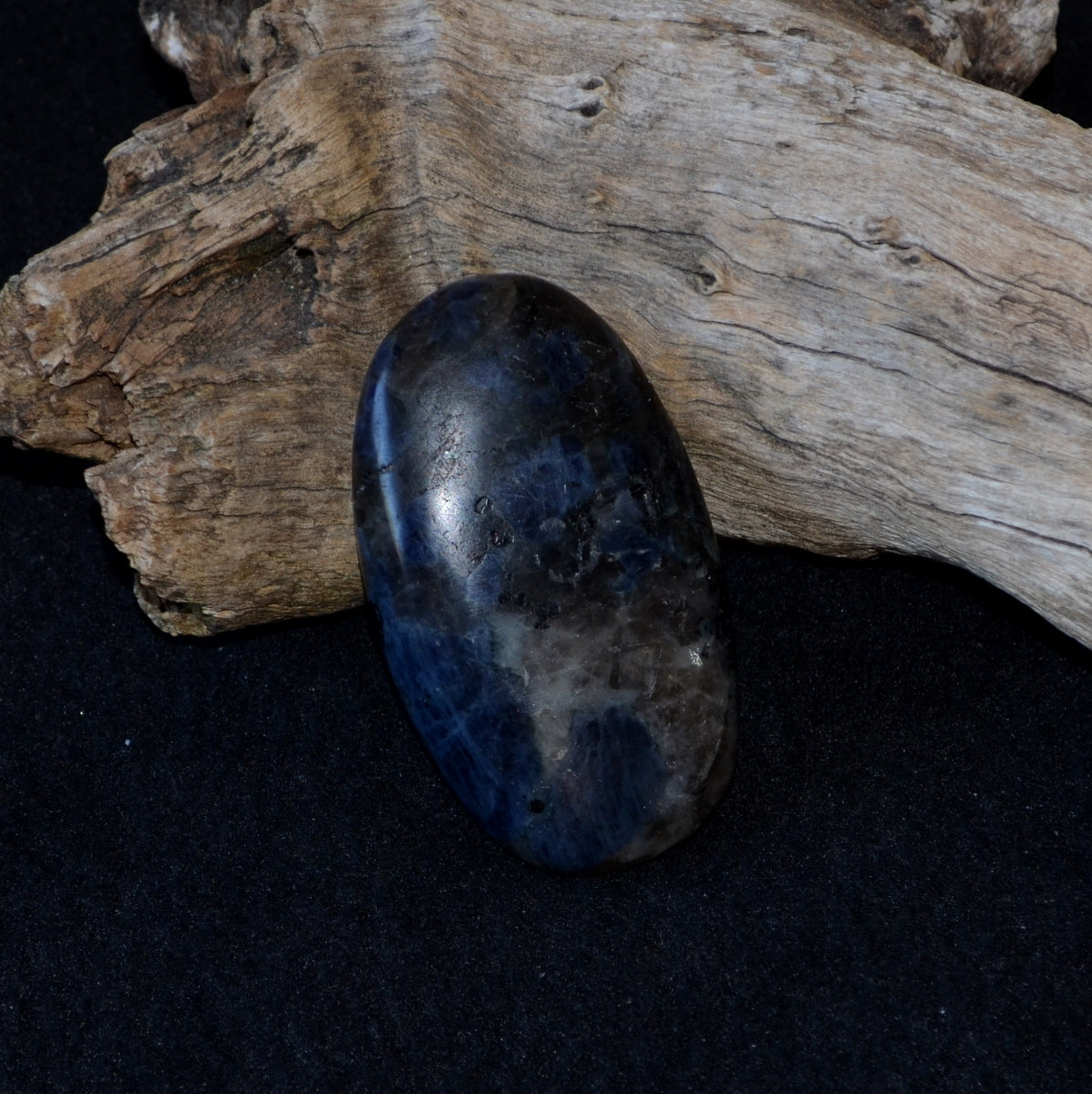 Iolite in Matrix Polished Palmstone - Visions Dreaming Intuition - Shop now at Illiom Crystals - Afterpay Available