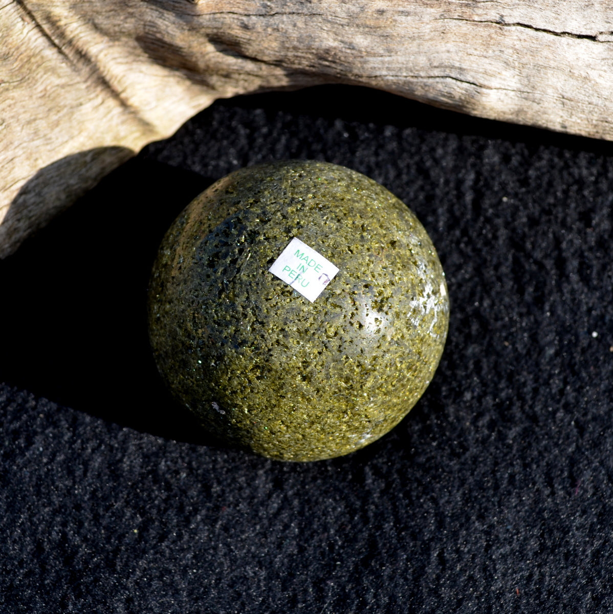 Rare Epidote Sphere - Nature Healing Heart Manifesting - Shop Now at Illiom Crystals - Afterpay Available