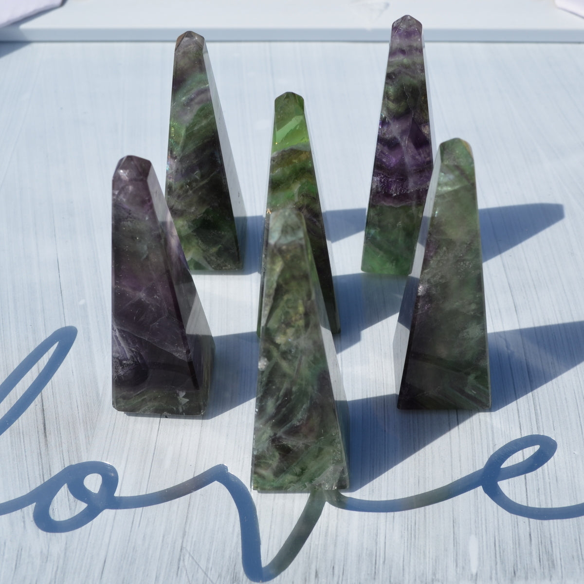 Fluorite Obelisk A Grade Each - Intuition Focus Cleansing - Buy Now at Illiom Crystals - Now with Afterpay
