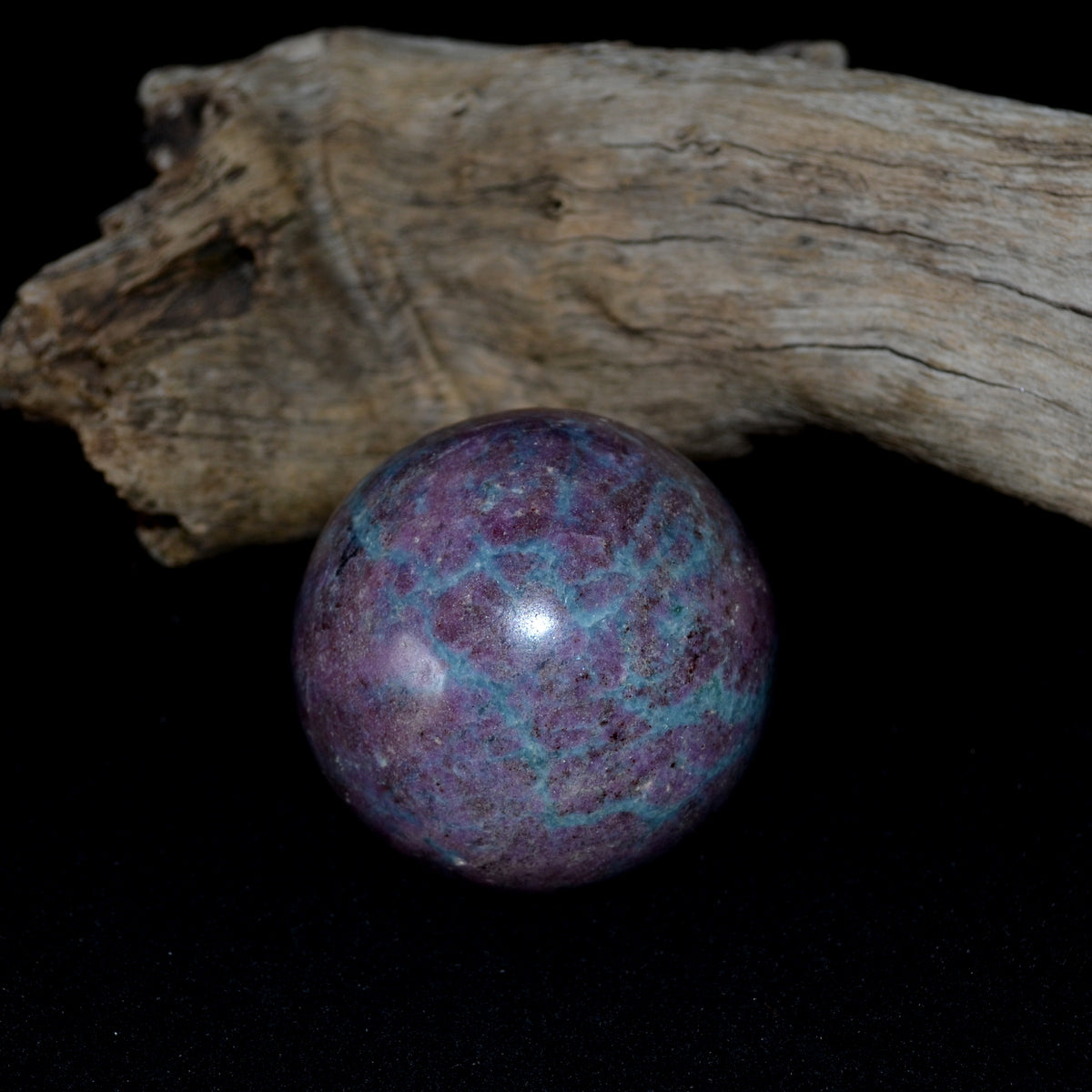 Ruby Kyanite Sphere Ball - Protection Balance Nurturing Passion - Shop Now at Illiom Crystals - Now with Afterpay