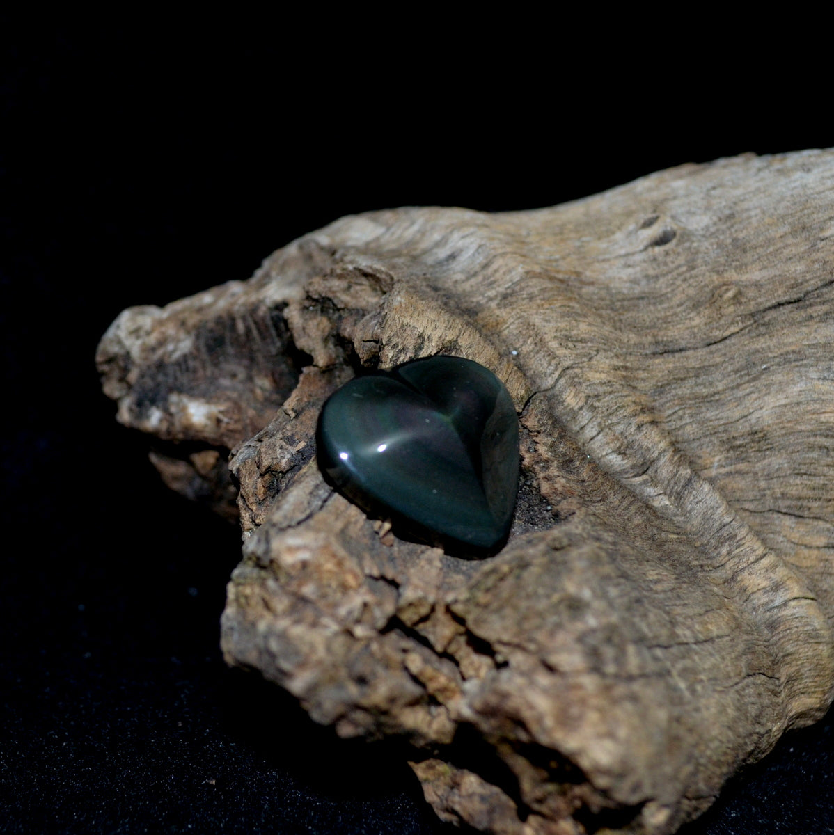 Rainbow Obsidian Gemstone Heart - Joy Happiness Protection - Shop Now at Illiom Crystals - Afterpay Available