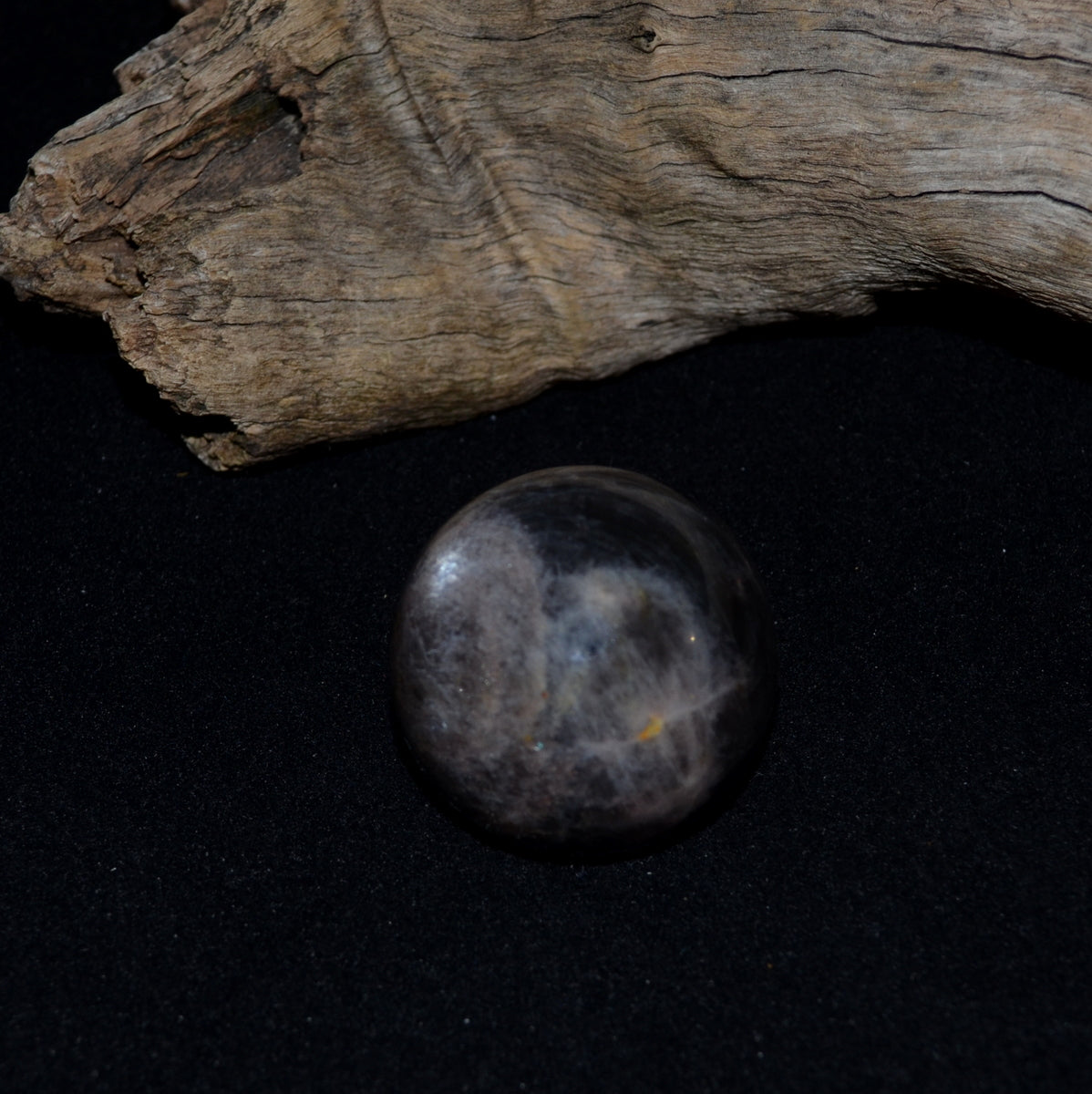 Black Moonstone Sphere - Wisdom Feminine Intuition - Shop Now at Illiom Crystals - Afterpay Available