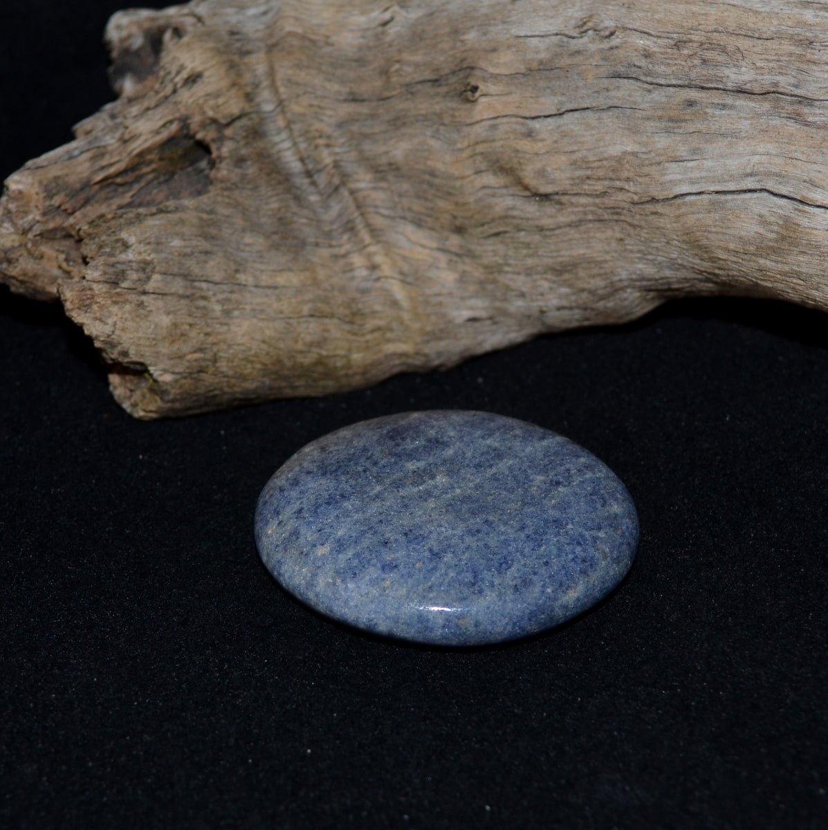 Lazulite Palmstone - Intuition Calming Meditation - Shop Now at Illiom Crystals - Afterpay Available