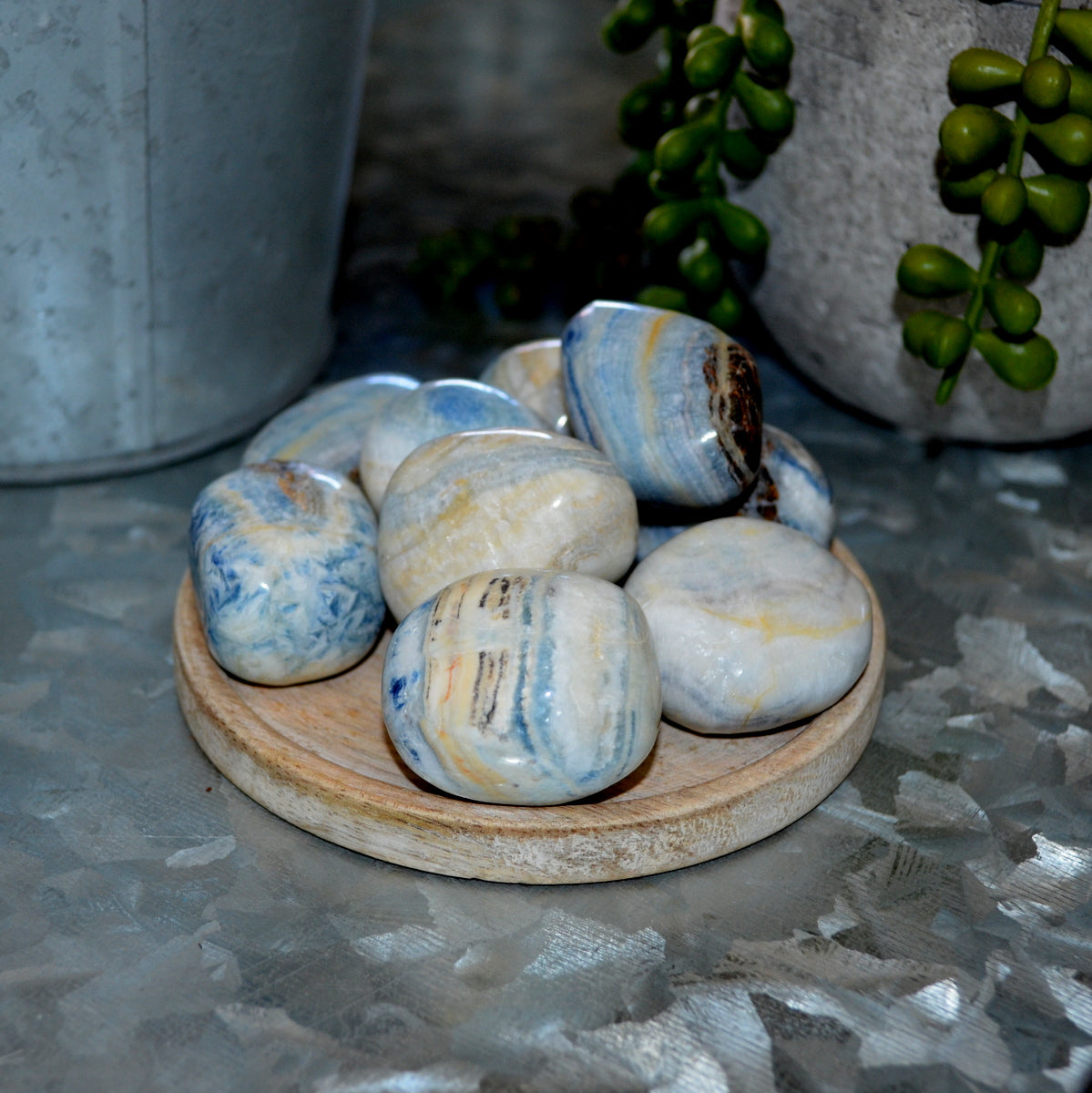 Blue Scheelite Turkey Tumble Stone at Illiom Crystals - Afterpay Available
