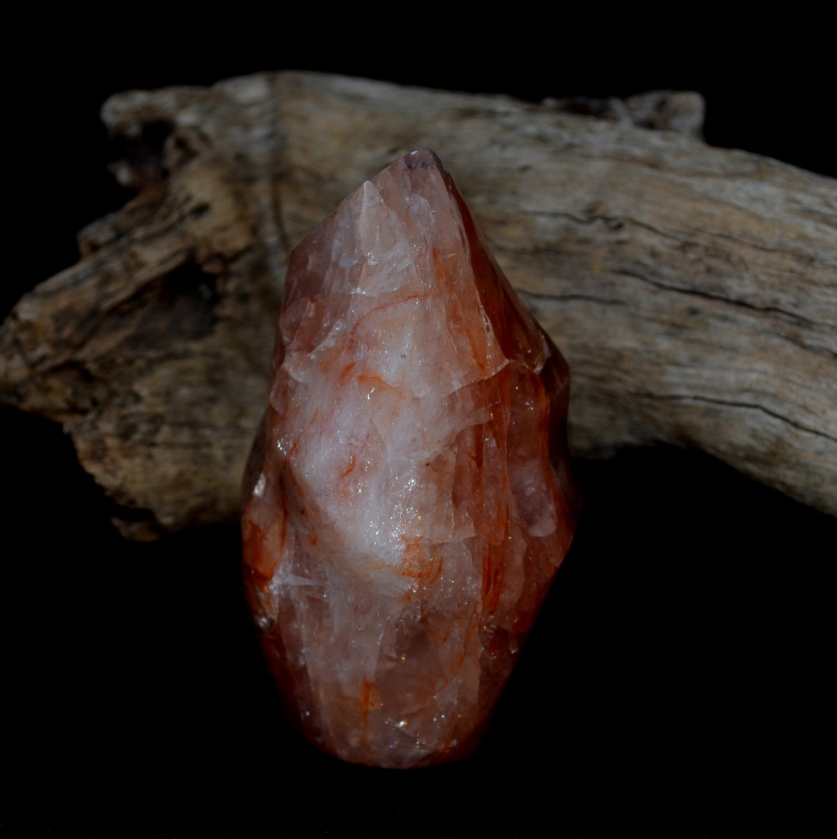 Red Hematoid Flame Quartz Polished Flame at Illiom Crystals - Afterpay Available