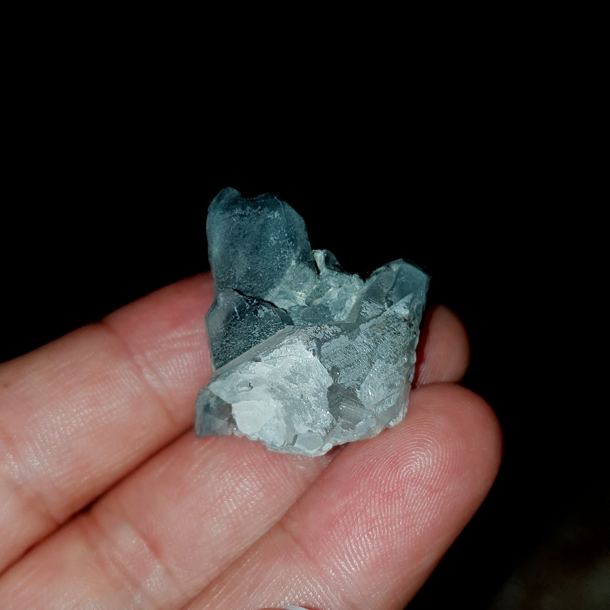 Blue Tara - Blue Riebeckite Included Quartz Rare - Shop Now at Illiom Crystals - Afterpay Available