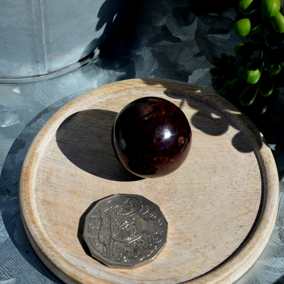 Star Garnet Sphere at Illiom Crystals - Afterpay Available