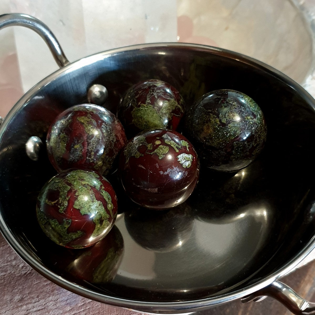 Dragonsblood Jasper Gemstone Sphere 40-45mm - Now at Illiom Crystals - Afterpay Available