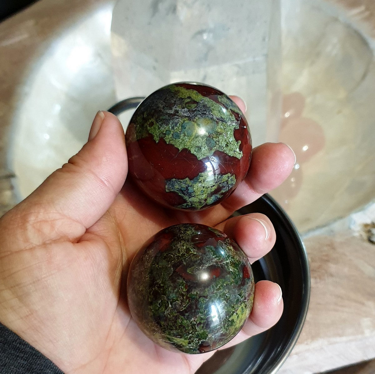 Dragonsblood Jasper Gemstone Sphere 45-50mm - Now at Illiom Crystals - Afterpay Available