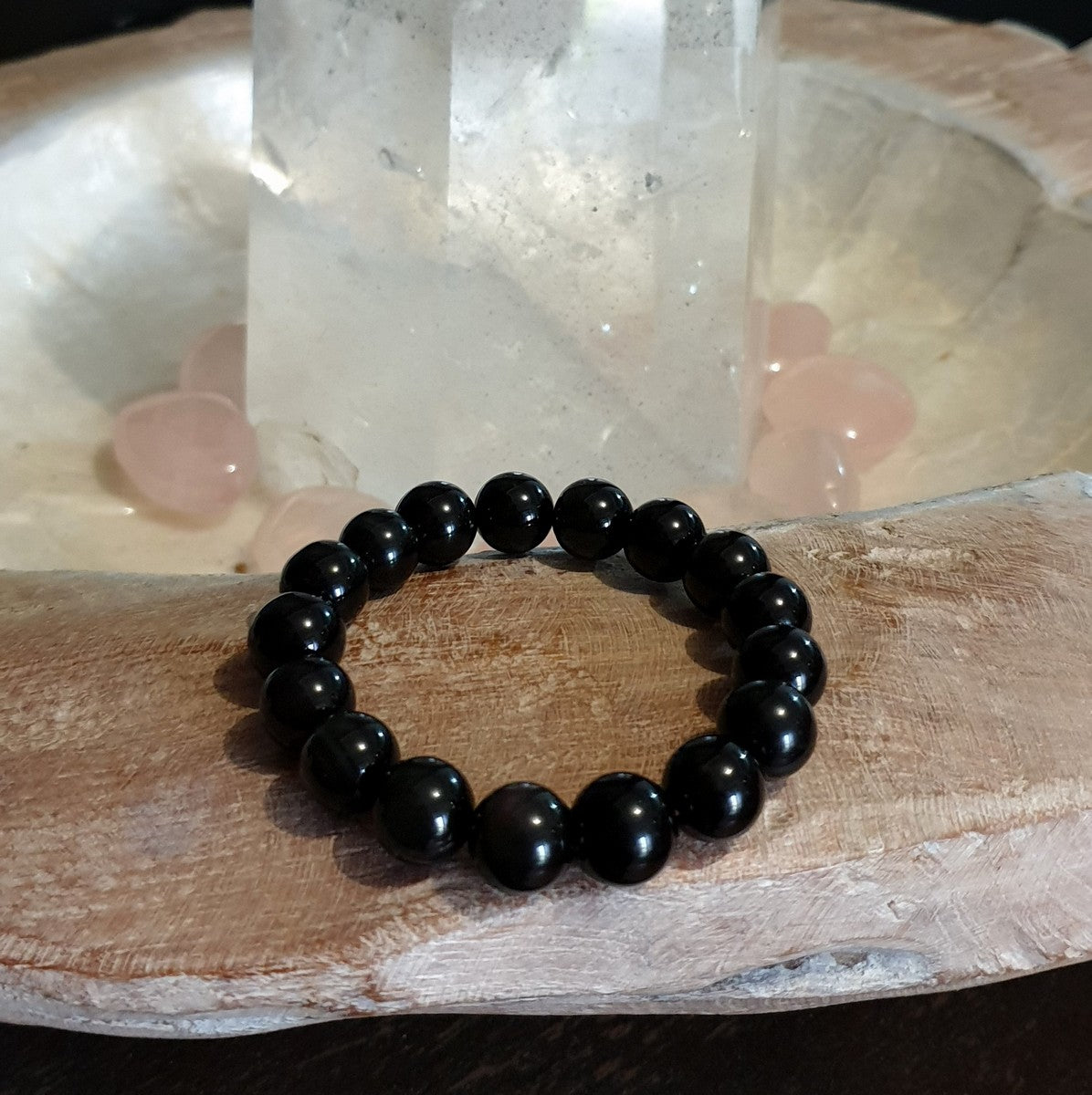 Rainbow Obsidian Round Beaded Stretch Bracelet Each - Shop Now at Illiom Crystals - Afterpay Available