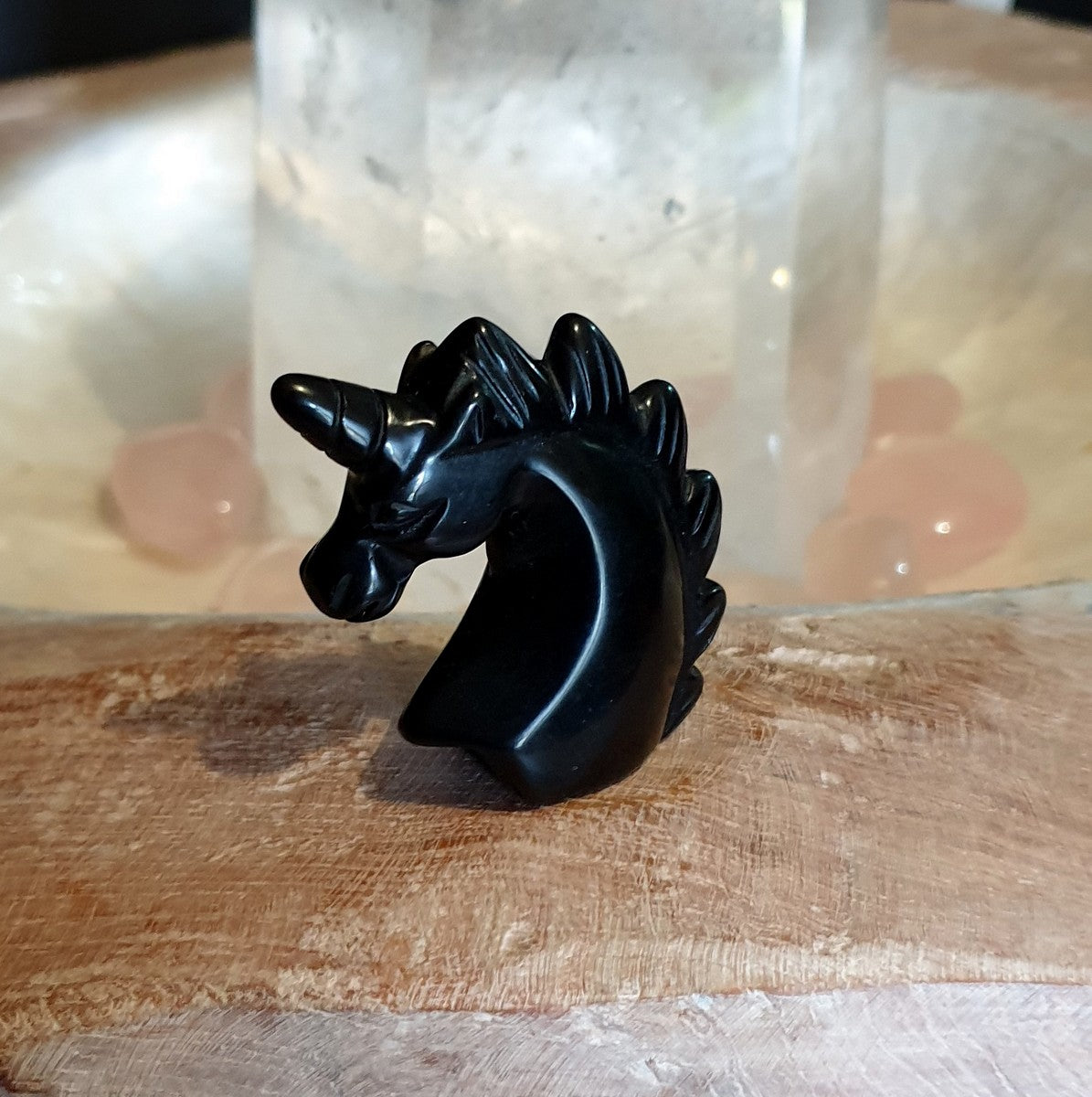 Unicorn Carving Black Obsidian - Shop Now at Illiom Crystals - Afterpay Available