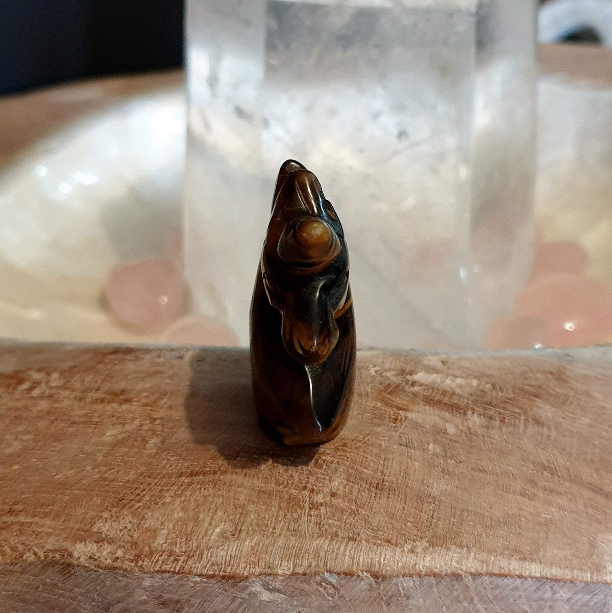 Unicorn Carving Gold Tiger Eye - Shop Now at Illiom Crystals - Afterpay Available