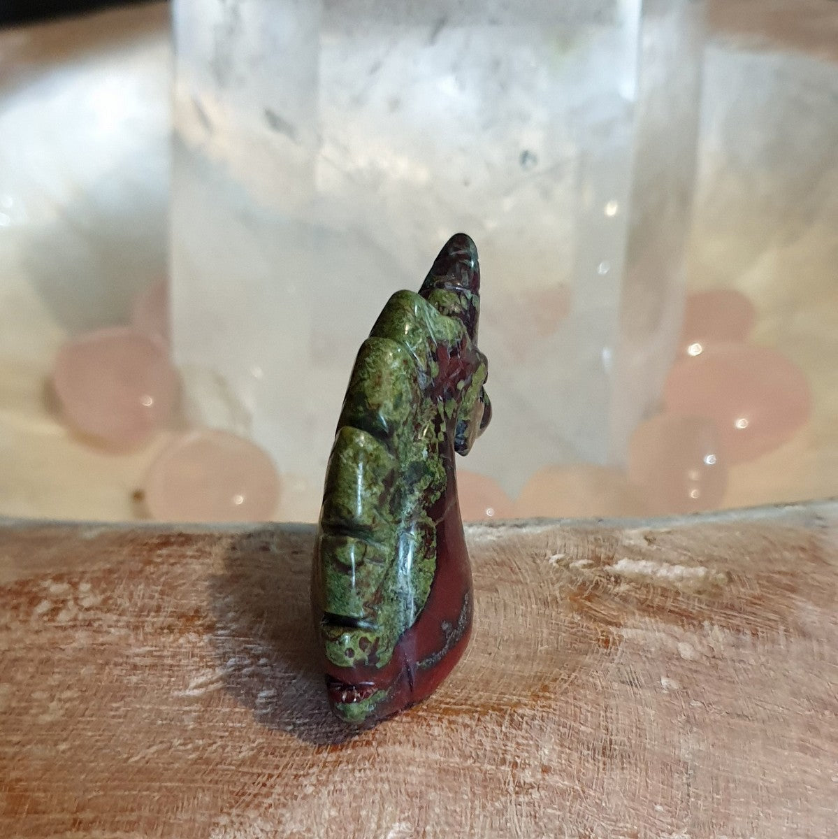 Unicorn Carving Dragonsblood Jasper - Shop Now at Illiom Crystals - Afterpay Available