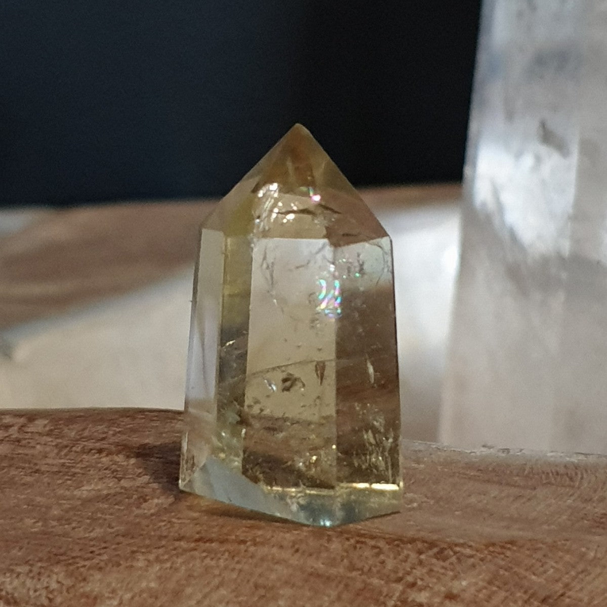 Natural Citrine Smoky Phantom Small Polished Point - Happiness Abundance - Shop Now at Illiom Crystals - Afterpay Available