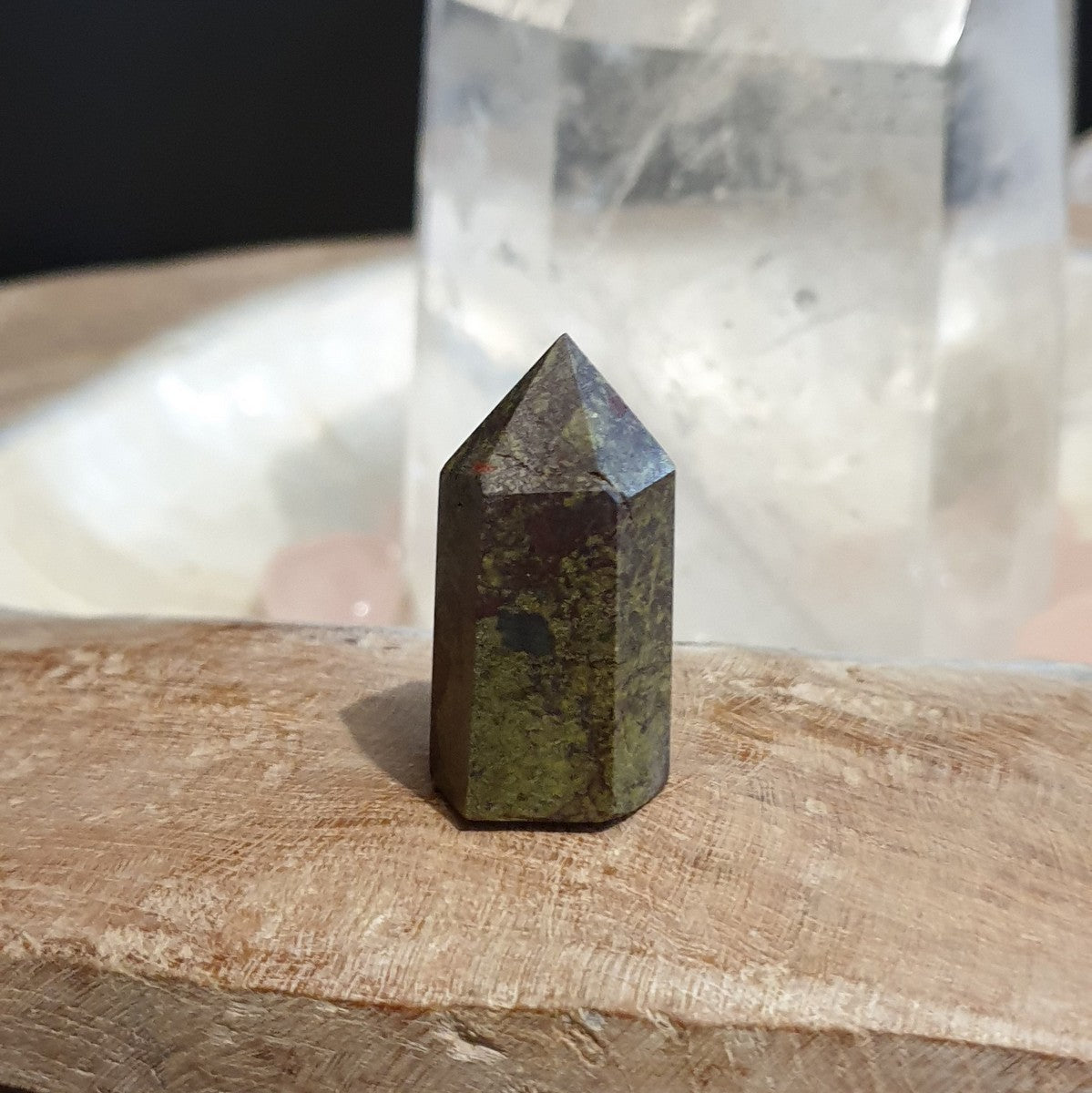 Dragonsblood Jasper Unpolished Matt Small Point - Shop Now at Illiom Crystals - Afterpay Available