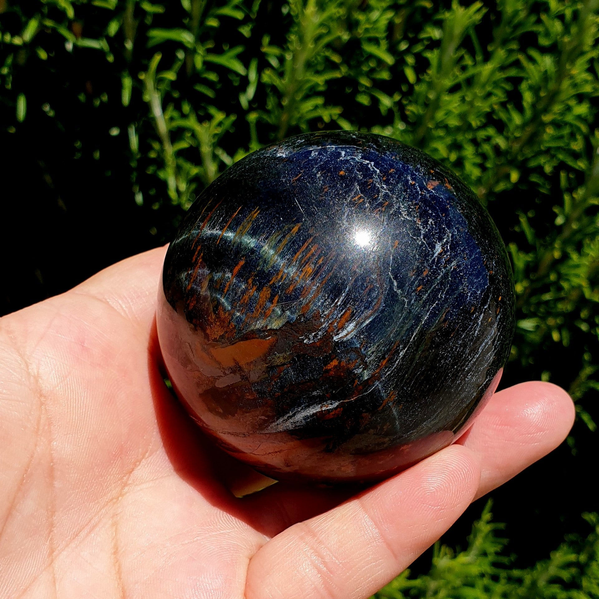 Blue Gold Tiger Eye Sphere - Illiom Crystals - Afterpay Available