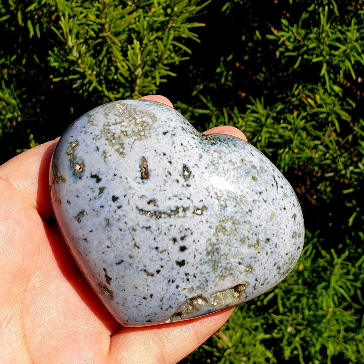Blue Ocean Jasper Gemstone Heart - Shop with Afterpay at Illiom Crystals