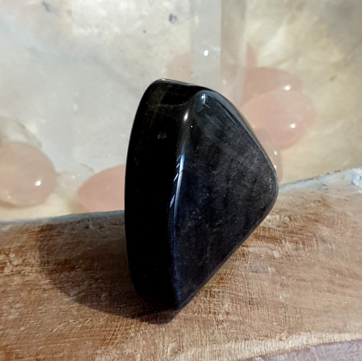 Silver Sheen Obsidian Polished Heart  - Shop with Afterpay at Illiom Crystals