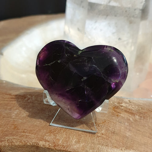 Fluorite Heart A ~ Purple (IY2-4-4A)