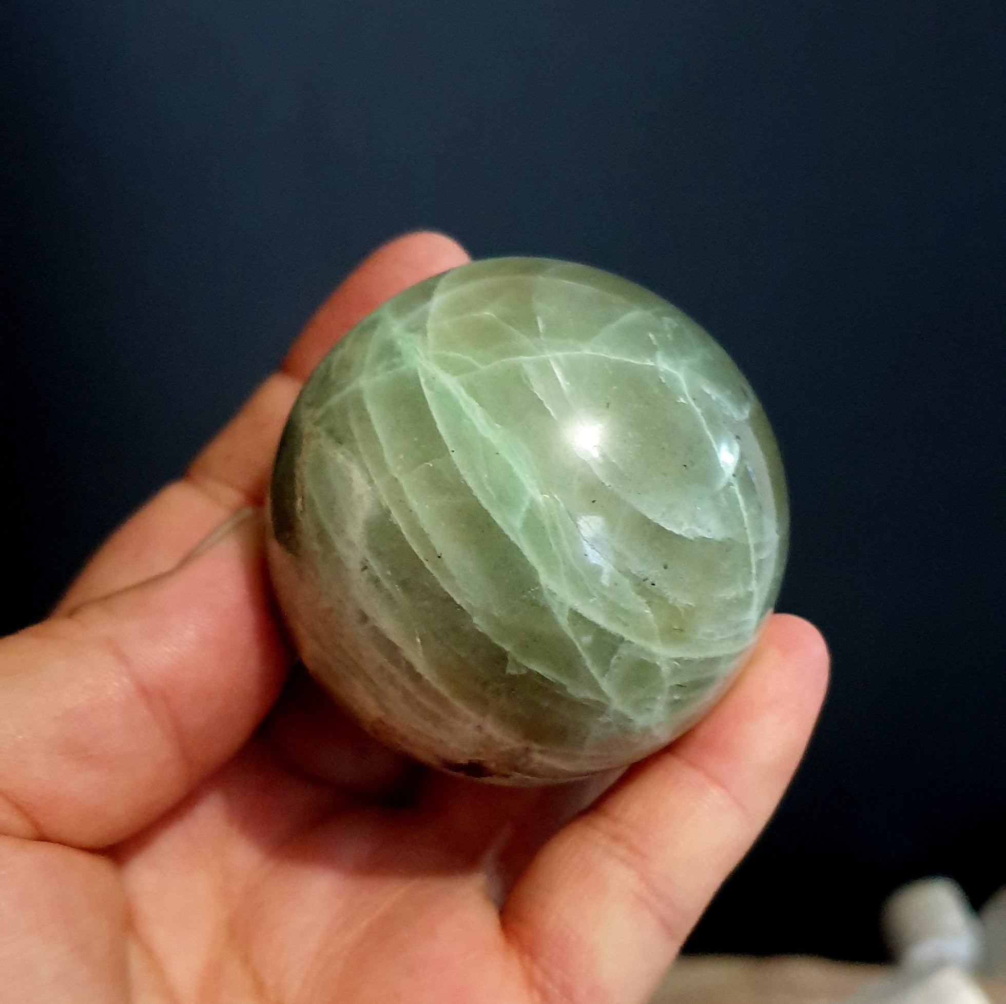 Garnierite Falcondoite Green Moonstone Feldspar Sphere - Illiom Crystals - Afterpay Available