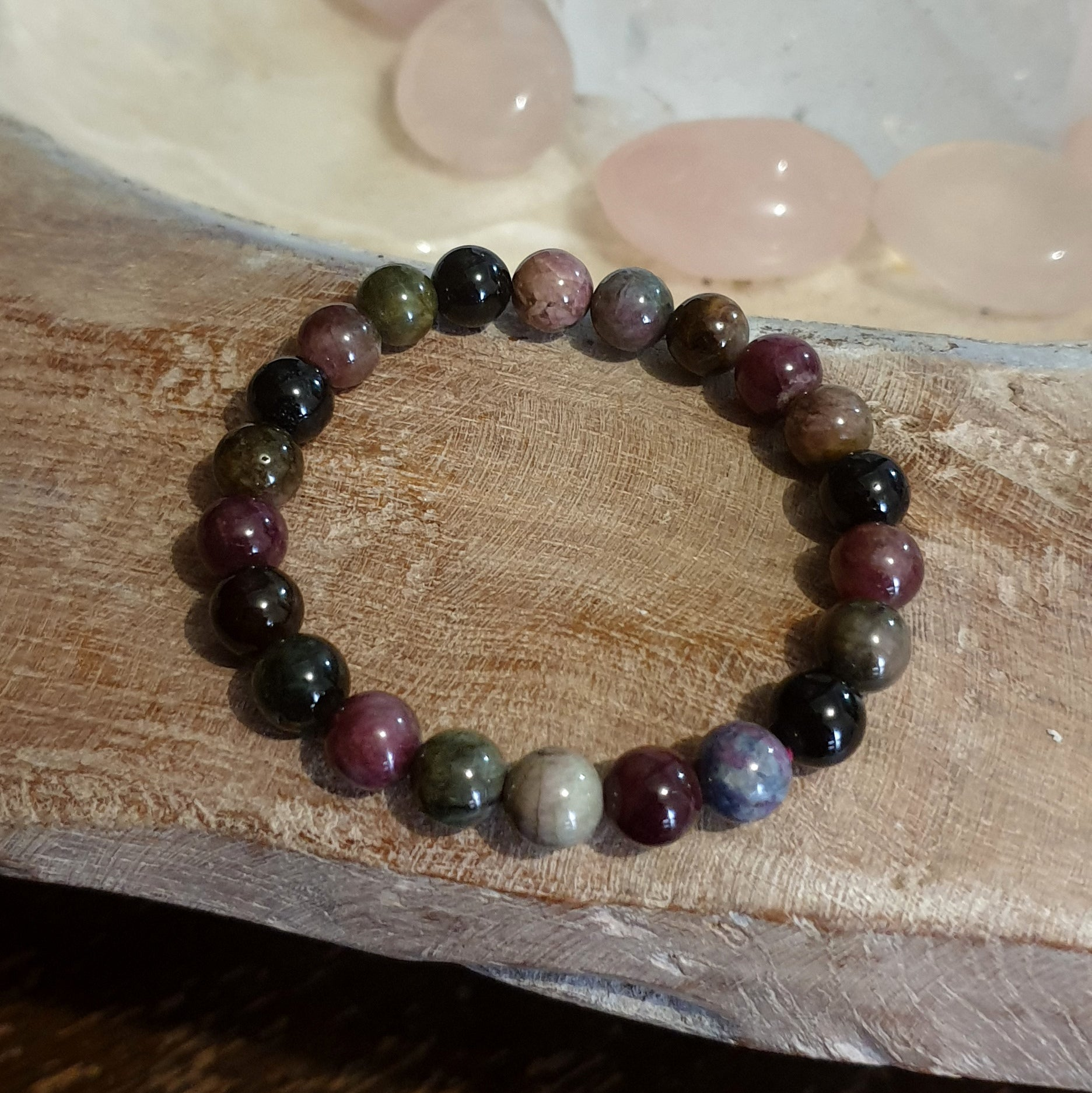 Multi Tourmaline Stretch Bracelet Asst Each - Illiom Crystals - Afterpay Available