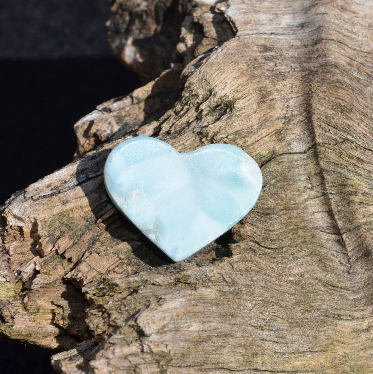 Larimar Polished Heart - Nurturing Water Energy - Available to Buy Now at Illiom Crystals - Now with Afterpay