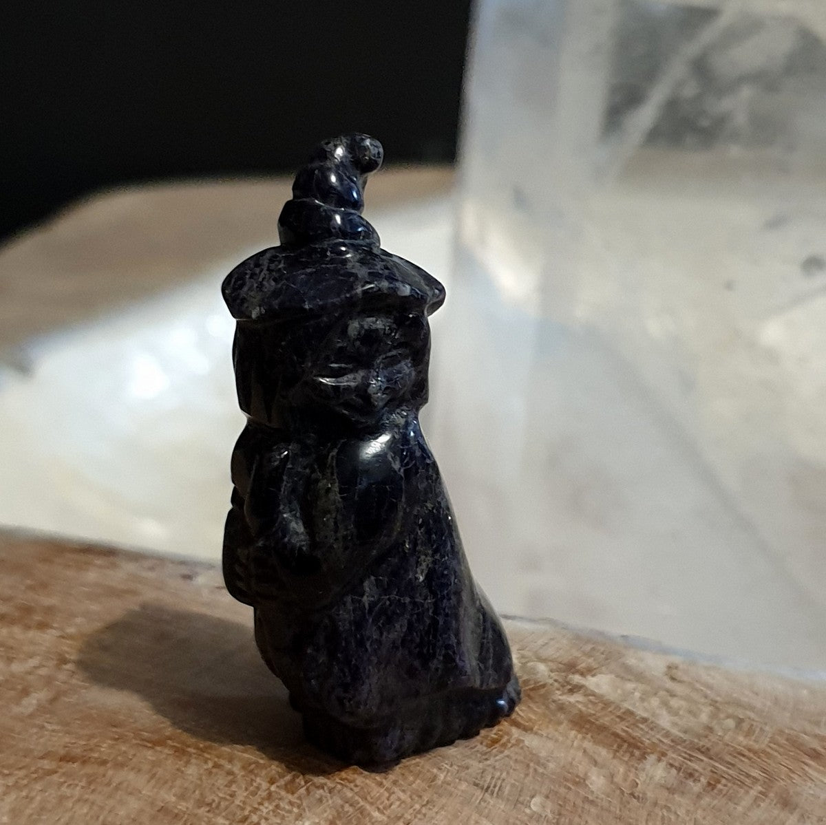 Handcarved Chinese Opalised Fluorite Witch Gemstone Carving - Illiom Crystals - Afterpay Available