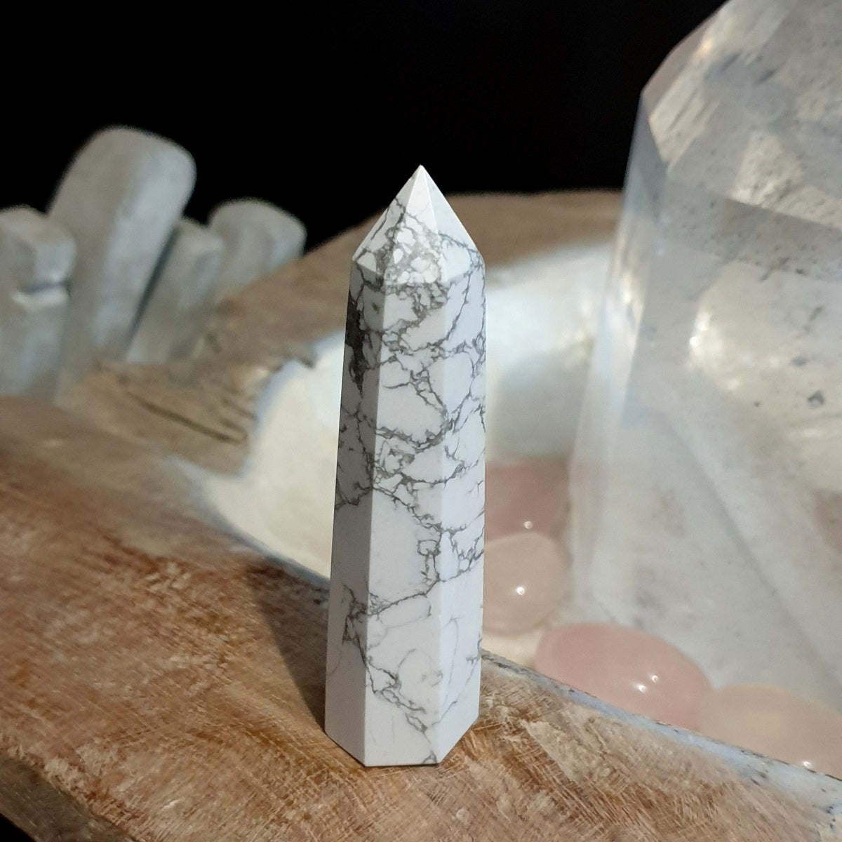 Howlite Polished Small Point - Illiom Crystals - Afterpay Available