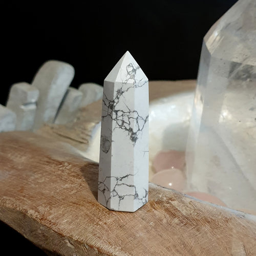 Howlite Polished Point C (LMC-1-6C)